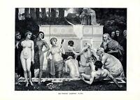 Jungbrunnen XL Kunstdruck 1906 v. Hans Sandreuter * Basel Schweiz weiblicher Akt