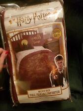 Harry Potter Hogwarts Gold Foil Crest Microfiber Bed Comforter Full/Queen 81x86