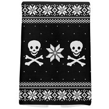 Skull & Crossbones Ugly Christmas Sweater All Over Hand Towel