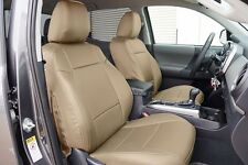 TOYOTA TACOMA SPORT TRD 09-15 BEIGE S.LEATHER CUSTOM MADE FIT FRONT SEAT COVER