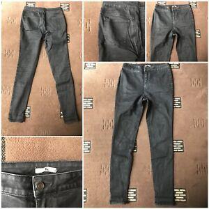 "ladies denim by tu skinny jeans black size 12L leg 31"" cotton mix"