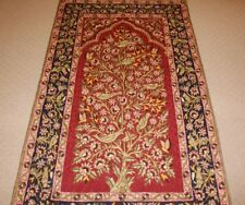 Large Persian Kashmir Handmade Silk Rug Carpet ,Oriental Antique Floor Decor