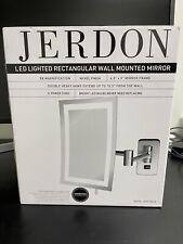 "Led Lighted Wall Mount Rectangular Makeup Mirror 5x Magnifying 6.5""x9"" Bathroom"