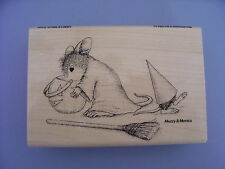 HOUSE MOUSE RUBBER STAMPS WITCH TREAT HALLOWEEN STAMP