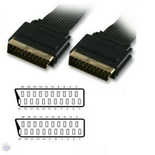 5m FLAT Gold Plated Scart Cable 21Pin Fully Screened