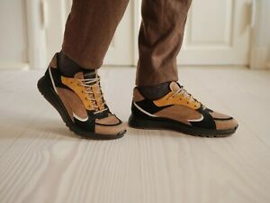 Ecco ST.1 Men Size 12 US Camel Black White Oak Sneakers EU 46 New $180 MSRP