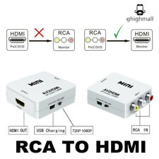 New listing White Av 3Rca Composite Cvbs Audio Video to Hdmi Converter Adapter Cable 1080p