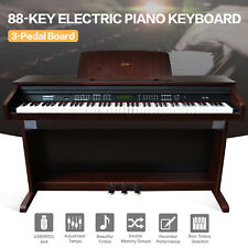 Music 88 Key Electric Digital LCD Piano Keyboard with Stand+Adapter+3Pedal Board