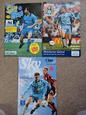 COVENTRY CITY vs MAN Utd MANCHESTER UTD 1999 1993 football programme job lot