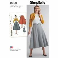 Simplicity Sewing Pattern 8250 - H5 Misses' Vintage 1950's Skirt & Bolero