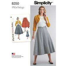 Simplicity Sewing Pattern 8250-H5 Misses' Vintage 1950's Skirt & Bolero SIZ 6-14