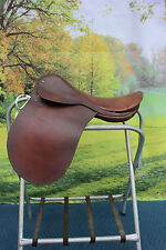 "43-20  Vintage 18"" Crosby English Saddle all leather VERY UNIQUE"