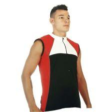 Abbiglimento sportivo da uomo traspirante rosso senza maniche