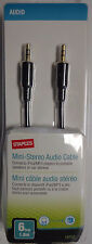Staples Mini-Stereo Audio Cable BRAND NEW