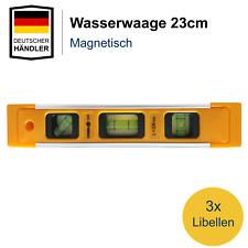 Wasserwaage mit 3 Libellen Aluminium Magnetwasserwage Präzisionswasserwaage 23cm