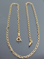 VINTAGE 9ct GOLD LONG CURB LINK NECKLACE CHAIN 16 inch 1987