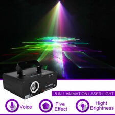 5 In 1 Rgb 3D Effect Laser Light Dmx Projector Party Show Dj Stage Lighting