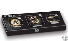 Boston Bruins FAN'S GIFT BOX Souvenir Puck + Coasters + Media Holder Sher-Wood