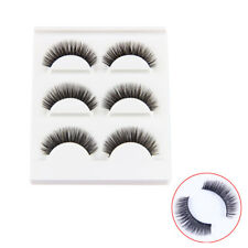 3Pairs Hand made 100% Real Mink Luxury Natural Thick soft lashes False eyelashes