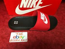 Nike Benassi JDI Men's Slide Black White Red 343880-026 SZ 8-13 Free Shipping