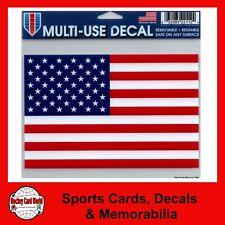 "(HCW) United States USA Flag Multi-Use Decal Clear Back 5""x 6"" *FREE SHIP"
