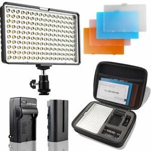 luz led para fotografia video camara 160 leds potente de dslr con estuche Nuevo