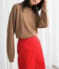 & Other Stories Womens Oversized Cashmere Sweater Color: Camel Size:Small Nwt
