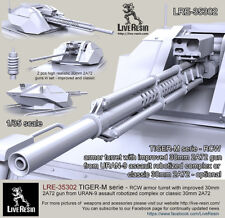 Live Resin 1/35 LRE-35302 TIGER-M Series - RCW Armor Turret w/2A72 from URAN-9