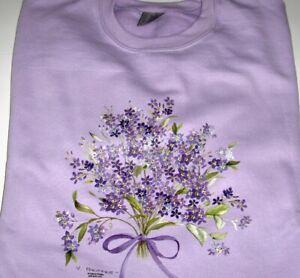 """""""Forget-Me-Not"""" -  Gildan  (Orchid) Fleece Long Sleeve Crew Neck Sweatshirt"""