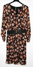 Adrianna Papell Plus 22W  black Print Knee Length Wear to Work Dress NWT