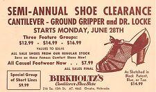 1954 Omaha Nebraska NE Birkholtz's Cantilever Shoe Store Sale Advertising PC
