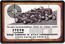 Retro Blechschild 20x30 Steyr Traktor Daimler Puch Wien Österreich Modelle