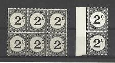 BARBADOS 1950 & 1953  Postage Dues   umm / mnh block 6 & umm / mnh pair
