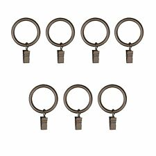Umbra Clip Rings for Curtain Panels, Large, Pewter, Set of 7
