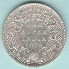 BRITISH INDIA 1879 VICTORIA EMPRESS 0/1 DOT VARIETY ONE RUPEE SILVER COIN