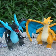 "2X Pokemon Center Charizard 9"" Dragon Plush Toy Stuffed Animal Soft Doll Shiny"