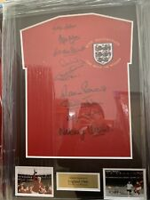 More details for england 66 world cup winners framed shirt with 9 signatures. superb coa £299
