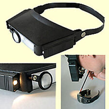 Stirnlupe Kopflupe mit Beleuchtung 4,8-fache Vergr. Lupenbrille Brillenlupe Lupe