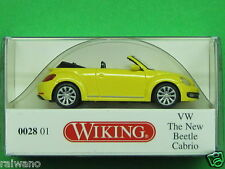 1:87 Wiking 002801 VW The New Beetle Cabriolet saturn-yellow Blitzversand DHL