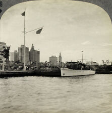 Keystone Stereoview of Miami, FLORIDA & a Ship in Harbor From RARE 1200 Card Set