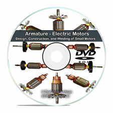 Armature Electric Motors Design Construction and Winding Reference Books CD V75