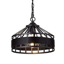 Rustic Chandelier Vintage Barn Metal Hanging Ceiling Light Dining Chain Hung