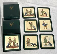 12 x BOXED BRYN PARRY STUDIOS HUMOROUS HUNTING / SHOOTING COASTERS