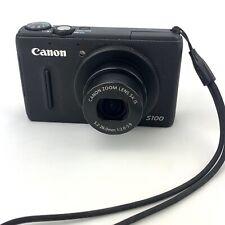 Canon PowerShot S100 Digital Camera (Black) with Battery