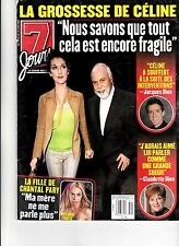 CELINE DION  RARE 7 JOURS MAGAZINE WITH RENE VOLUME 11 JUNE 2000