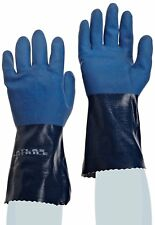 """Nitrile Gloves, SHOWA Atlas 720, 12""""L Size Small 12 Pairs Fully Coated Chem Res."""