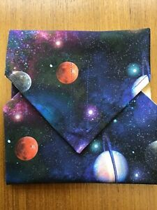 Handmade Reusable Eco Friendly Sandwich Wrap/ Bag Featuring Planets Design