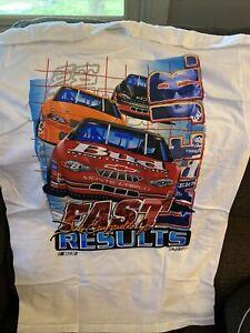 Vintage Dale Earnhardt Jr Bud Fast Resilts T-Shirt Large
