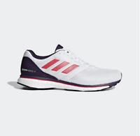 New Adidas Adizero Adios 4 W White Rose Womens Running A Pied Shoes B37375