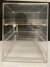 New Listing3 Tray Bakery Clear Acrylic Pastry Pastries Display Case Cafe Hotel Counter Food